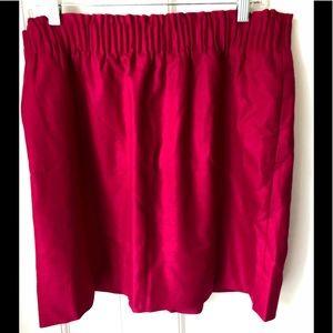J. Crew Raspberry Pull-On Tulip Skirt Size 16